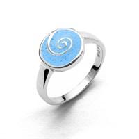 """Ring """"Wasserspirale"""" Steinsand rhod. 925er Silber"""