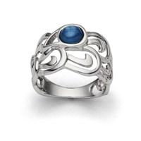 "Ring ""Meeres-Tropfen"" rhodiniert 925er Silber"