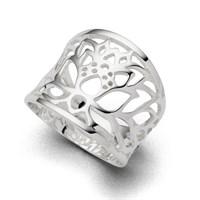 """Ring """"Lotus"""" poliert 925er Silber"""