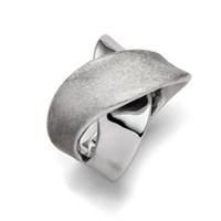 """Ring """"poliert/eismatt"""" rhodiniert  925er Silber"""
