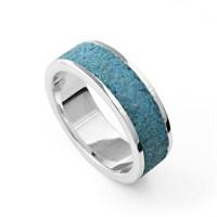 """Ring """"Steinsand"""" blau, rhodiniert  925er Silber"""