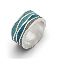 "Ring ""Meeresblau"""