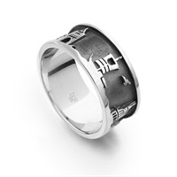 "Ring ""Wismar"" dkl. rhodiniert"