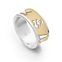 """Ring """"Zeeland"""" innen vergoldet"""