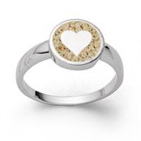 "Ring ""Liebe"" Strandsand"