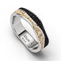 "Ring ""Welle Sand/Lavasand"""