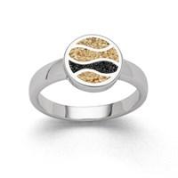 """Ring """"Ebbe & Flut"""" Strandsand/Lavasand"""