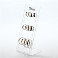 Klappcreolen-Set rd./eckig 6 P. 925er Silber
